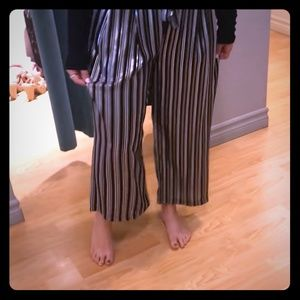 Pants - MAJOR ISO!!! Black, White and Silver Striped Pants
